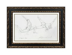 Richard MacDonald Cirque Du Soleil Original Drawing Bronze Sculpture Signed Art