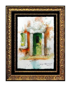 James Coleman Original Watercolor Painting Signed Italian Cityscape Art oil SBO