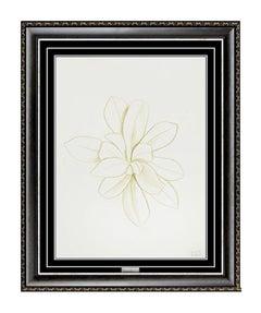 Joseph Stella Original Color Ink Drawing Flower Authentic Modern Still Life Art