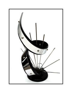Shlomi HAZIZA Original HAND SIGNED Acrylic Metal Abstract Signed Sculpture Art