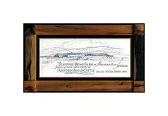 Eric Sloane Original Ink Drawing On Board Hand Signed Landscape Illustration Art