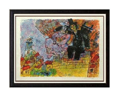 Theo Tobiasse Color Lithograph HAND SIGNED Large Hans Christian Andersen Artwork