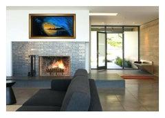 Ashton Howard Large Original Oil Painting on Canvas Signed Sunset Wave Artwork