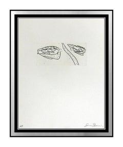 Sam Francis Original Etching Hand Signed Abstract Modern Artwork Framed Portrait