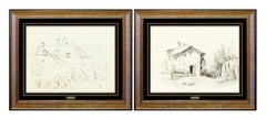 Louis Comfort Tiffany Original Drawing HAND SIGNED LCT Gold Favrile Glass Art
