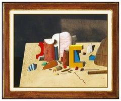 Karl Korab Original Gouache Painting Authentic Signed Still Life Framed Artwork