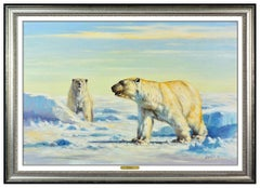 Eric Forlee Large Original Oil Painting on Canvas Animal Polar Bear Signed Art