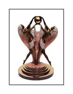 Angelo Basso Bronze Sculpture Original Signed Nude Female Figurative Artwork SBO