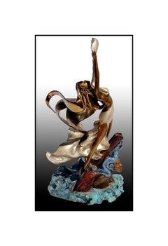 Angelo Basso Original Bronze Sculpture Nude Figurative Signed Artwork Polena SBO