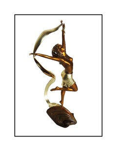 Angelo Basso Original Nude Female Figurative Bronze Sculpture Odine Signed Art