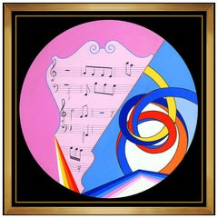 Antonio Grediaga Kieff Original Acrylic Painting On Canvas Large Music Signed