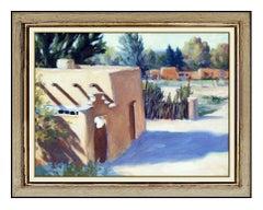 Bruce Cody Original Western Landscape Oil Painting On Board Signed Framed Art