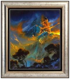 Dale Terbush Original Acrylic Painting On Canvas Signed Mountain Landscape Art