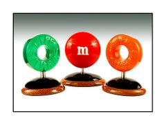 Dan Meyer 3 Original Candy Sculpture Signed Full Round M&M Life Saver Daniel Art