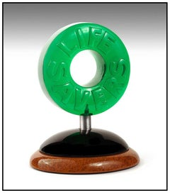 Dan Meyer Original Candy Sculpture Signed Full Round Wood Acrylic Daniel Artwork