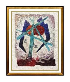 David Dodsworth Etching Original SIGNED Authentic Artwork Color Akkadia Painting