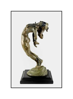 Don Huntsman Large Original Bronze Sculpture Signed Female Harlequinade Artwork