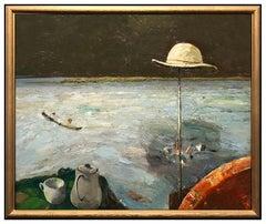 Dean Richardson Large Oil On Canvas Original Landscape Painting Signed Artwork