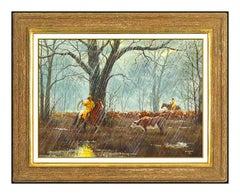 Gerry Metz Original Oil Painting On Board Signed Western Cowboy Horse Artwork