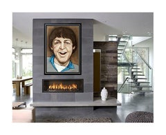 JACK DOWD Original Pastel PAINTING The Beatles Paul McCartney Authentic Signed