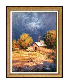 Jack Jordan Original Oil Painting on Canvas Signed Landscape Western Artwork SBO