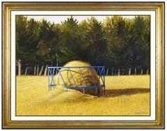 James Bonner Rare Original Watercolor Painting Signed New England Landscape Art
