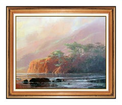 James Coleman Large Original Oil Painting On Canvas Signed Western Landscape Art