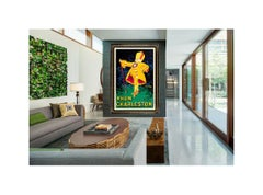Jean D'Ylen Original Vintage Poster Rhum Charleston Large Stone Lithograph Art