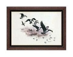 John Walter Scott Painting Original Oil on Board Signed Illustration Wildlife