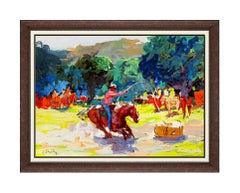 Joseph Stahley ORIGINAL Painting Signed Western Oil On Board Art Horse Cowboy