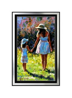 Michael Vincent Afternoon Promenade Giclee On Canvas Signed Art
