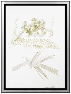 Mark Di Suvero Original Watercolor Painting Hand Signed Framed Art Sculpture