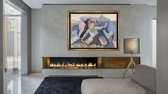 Robert Casper Authentic and Large Original Acrylic Painting on Canvas, Professio