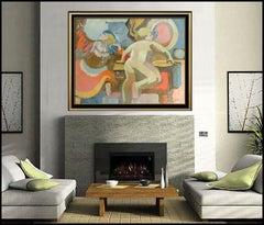 Robert Casper Original Acrylic Painting On Canvas Signed Large Nude Portrait Art