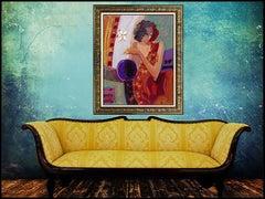 Sabzi Exotic Flower Large Original Giclee On Canvas Hand Signed Authentic Art