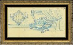 Walter Lantz Original Production Animation Drawing Woody Woodpecker Signed Art