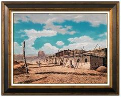 Frank Magsino Original Oil On Board Painting Signed Western Landscape Framed Art