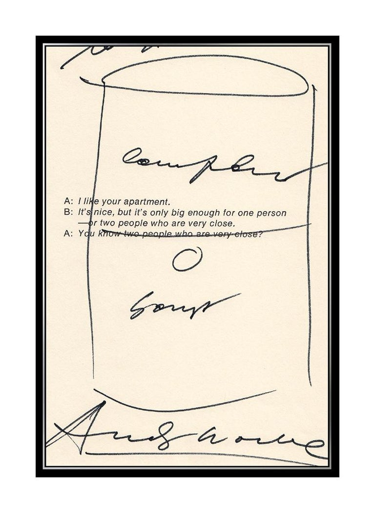 Andy Warhol Campbell's Tomato Soup Ink Drawing - Beige Still-Life by Andy Warhol