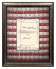 Andy Warhol Campbell's Tomato Soup Ink Drawing