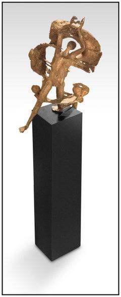 Milton Hebald Large Original Bronze Sculpture Female Figurative Signed Artwork