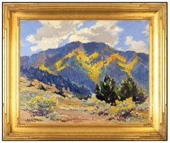 Marjorie Tietjens Original Oil On Board Painting Signed Western Landscape Art