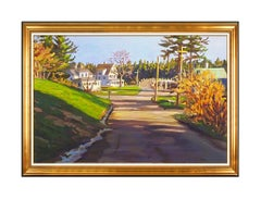 Scott Moore Original Painting Large Oil On Canvas Signed Maine Landscape Framed