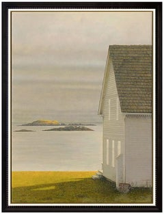 Phil Schirmer Original Painting Egg Tempera On Board Signed New England Seascape
