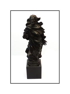 Frederick Hart Original St. Paul Bronze Relief Sculpture Signed Full Round Art