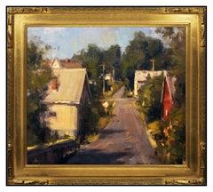 Scott Christensen Original Oil Painting on Board New England Landscape Signed