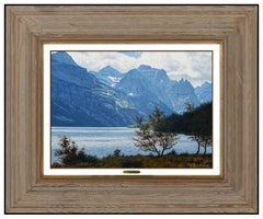 Denis Milhomme Original Oil Painting On Board Signed Mountain Landscape Artwork