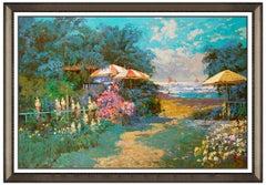 Ming Feng Oil Painting On Canvas Signed Landscape Large Original Ocean Landscape