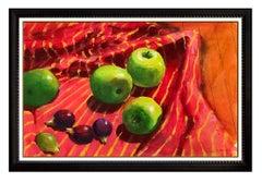 Paul Wonner Rare Original Acrylic Painting Food Still Life Signed Framed Artwork