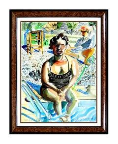 Pop Art Portrait Drawings and Watercolors