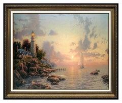 Thomas Kinkade Sea of Tranquility Original Lithograph Color Landscape Signed Art